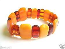 Natur Bernstein Antik Armband Butterscotch Schmuck Real Genuine Amber Bracelet