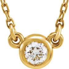 """14 k yellow gold 1/4 tcw diamond with 18"""" necklace"""