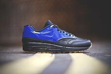 Men's Nike Air Max 1 VT QS 9.5 Blue Black Gum Sole VAC TECH Trainers Patent New