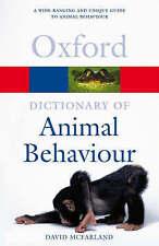 A DICTIONARY OF ANIMAL BEHAVIOUR., McFarland, David., Used; Very Good Book