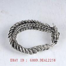 Chinese Silver Handwork Dragon Bracelet ZJ62