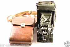 ZEISS IKON IKONTA DERVAL LENS FOLDING ROLL FILM CAMERA + CASE