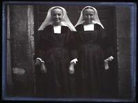 Francia Costume Tradizionale Foto c1930 Negativo Placca Da Lente Vintage Vr14L5n