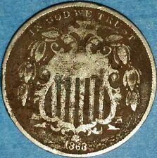 1868 5C Shield Nickel  ID #80-27