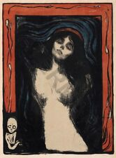 PAINTING MUNCH THE MADONNA WALL POSTER ART PRINT LF3345
