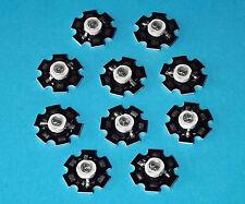 10 X 5W 850nm IR POWER  LED on HEATSINK Kühlkörper Emitter Infrarot Infrared 5mm