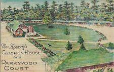 Vintage Postcard - Mrs. Kennedy's Chicken House & Parkwood Court - Statesboro GA