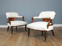 Pair of Edwardian Parlour Chairs