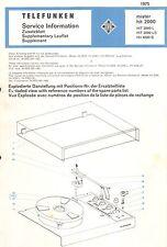 Telefunken Service Manual für mister hit 2000 / L / LS / 4000S