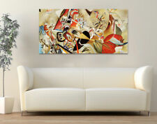 Quadro moderno Stampa su Tela Cotone cm.120x60 Astratto Kandinsky 1 Arredo Casa