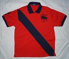 Polo Ralph Lauren Men's Polo Club 1967 Shirt Pony Size M Red Blue