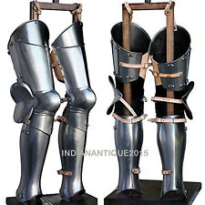 Medieval-Steel-Greaves-LARP-Armor-Leg-Guard