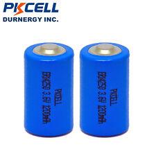 2PCS 1/2AA Size ER14250 LS14250 ER3S 3.6V 1200mAh Li-SOCl2 Battery PKCELL