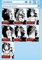 Topps Disney Collect Card Trader Princess Inked Ink Black /& White B/&W Set Awrd