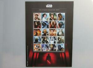 2017 Star Wars - The Ultimate Collectors Sheet (A4 Size) 20 x 1st Class Stamps