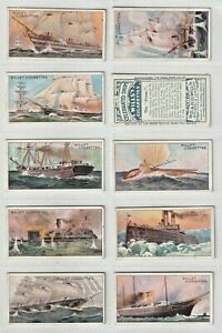 Cigarette Cards Wills 1911 Set 50 Celebrated Ships Travel on Water ()