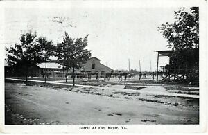 1918 ARLINGTON VA - Corral At Fort Myer - WWI Cavalry