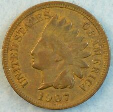 1907 Indian Head Cent Penny Very Nice Old Coin Fast S&H 412