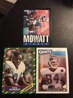 1985-1986-1987 Topps #121 #145 #18 ZEKE MOWATT New York Giants Lot 3 w/ROOKIE