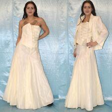 3 Piezas Novia Disfraz M 42 Falda + Corsé + Chaqueta Set Vestido de para Boda