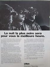 5/87 PUB LITTON ELECTRON TUBE 2 PLUS 3 NIGHT VISION M-915A M-972 ANVIS FRENCH AD
