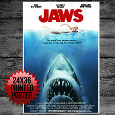 """Jaws Movie Poster 24"""" x 36"""""""