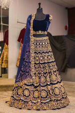 saree Designer Indian wedding wear velvet Bollywood lehenga ghagra lengha choli