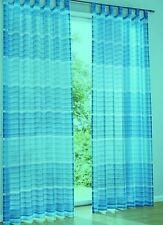 2 edle Vorhänge Gardinen Deko Schal türkis Streifen Schlaufen B/H 140 x 245 cm