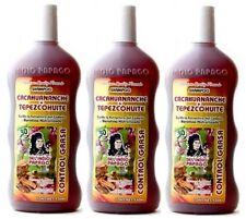 3x Shampoo Cacahuananche + TEPEZCOHUITE Control Oily Hair Grasa Del Indio Papago
