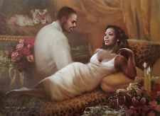 "African American Art ""In My Heart""  Romantic Couple Print by M.C. Wrey"