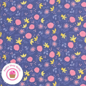 Moda ONCE UPON A TIME 20594 20 Purple Floral STACY H Quilt Fabric CINDERELLA