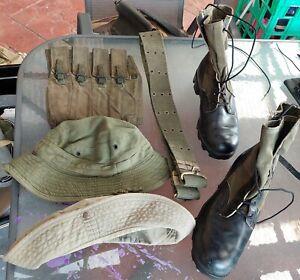 Vietnam Era Australian Hat, Pouch Boots