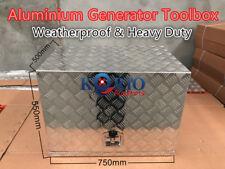 Aluminium Generator Tool Box Camper Caravan UTE/Car/Truck Toolbox 750Lx500Wx550H