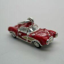 Sterling Silver Sports Car Charm for Bracelet Pendant Vintage Convertible Cute!