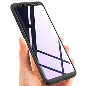 Samsung Galaxy S9 Plus - 3-teiliges 360 Grad Schutzgehäuse Full Case (schwarz)