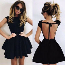 ❀Women Backless Summer Bandage Party Cocktail Club Mini Little Black Dress New
