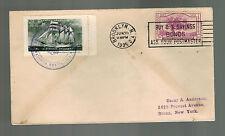 1935 Brooklyn NY USA Cover to Bronx Label Brazil Navy Marinka