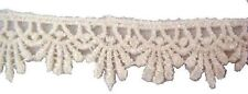 "5  Yards Ivory Edge Venice Venise  Lace trim 5/8""w great  4 doll craft"