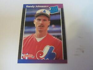 1989 DONRUSS BASEBALL CARDS RANDY JOHNSON CURT SCHILLING ROOKIE CARDS