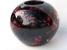 Kosta Boda Sweden Designer Art Glass Candle Holder Paperweight Swirls Purple
