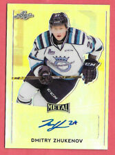 2016-17 Dmitry Zhukenov Leaf Metal Rookie Auto - Vancouver Canucks