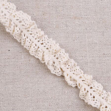 5 Yards Cotton Elastic Lace Trim Ribbon Fabric Craft Stretch Ruffle Trimming