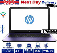 HP 15-ac020na 15.6-inch Laptop Intel Pentium 1.9Ghz 4GB RAM 250GB HDD Windows 10