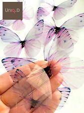 Purple Butterfly Wall Art, Transparent Butterfly Decoration, Nursery Butterflies
