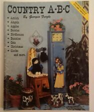 Country A B C By G. Feazle Decorative Painting Folk Art Tole Book VTG 80's RARE