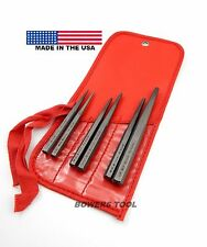 Wilde Tool 6pc Tapered Solid Drift Pin Punch Set 1/16 - 1/4in MADE IN USA
