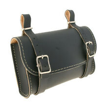 Synthetic Leather Vintage Style Saddlebag in Black