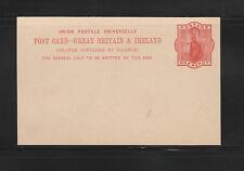 entier postal  carte Royaume Uni et Ireland reine Victoria  one Penny   neuve