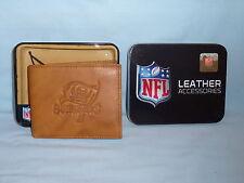 TAMPA BAY BUCCANEERS    Leather BiFold Wallet    NIB    brown 4