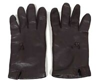 Womens Brown Leather Gloves Winter Driving Lined